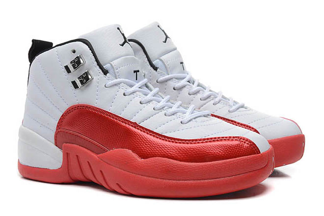 "Air Jordan 12 ""Cherry"" Shoes White/Varsity Red Black"